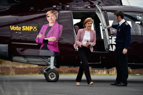 Sturgeon on the campaign trail ( Jeff J Mitchell/Getty Images)