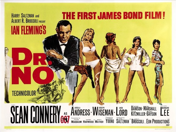 Poster for the first James Bond film