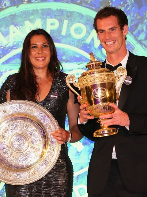 2013 champions Marion Bartoli and Murray (Julian Finney/Getty Images)