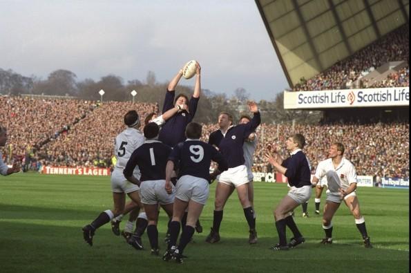 Scotland won the match 13-7 (David Cannon/Allsport)
