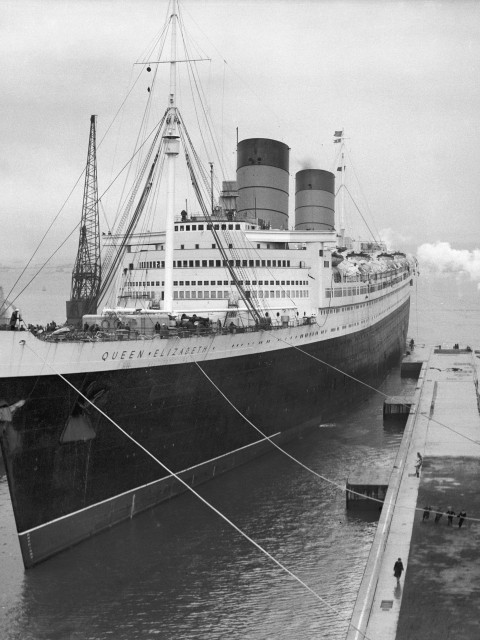 The RMS Queen Elizabeth – built at John Brown, launched 1938 (PA Archive)