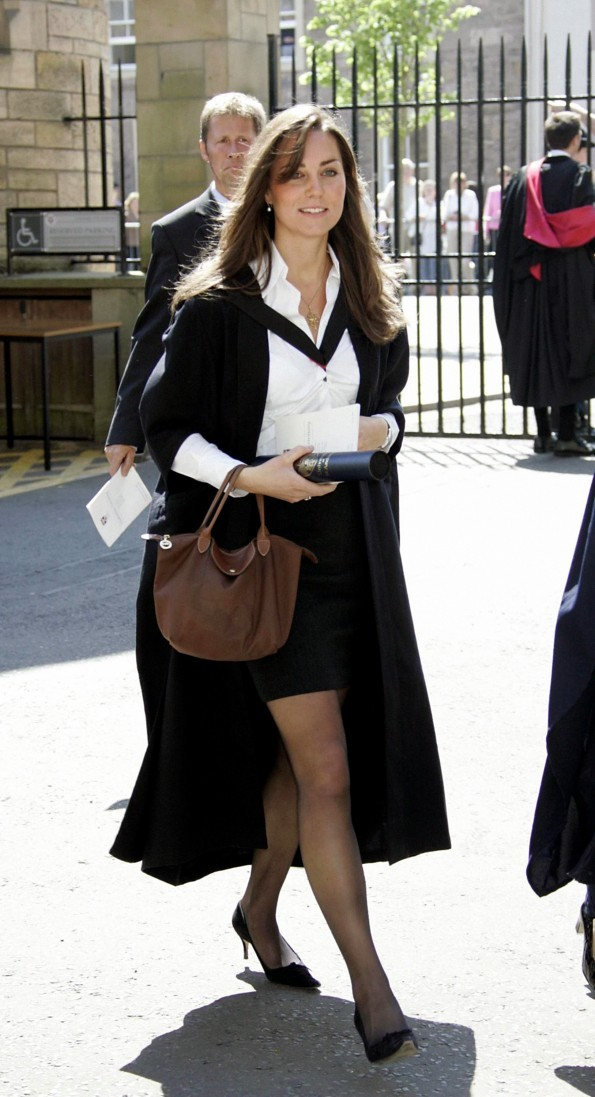 Kate Middleton during the graduation ceremony.