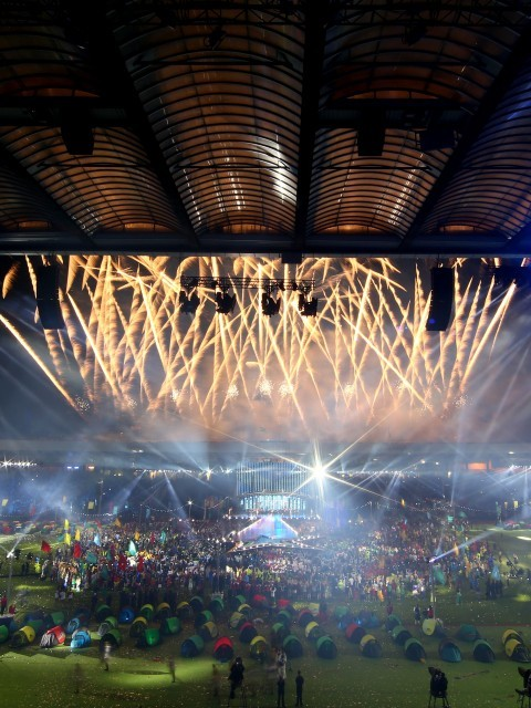 Opening Ceremony, Celtic Park (Ian Walton/Getty Images)