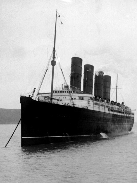 The RMS Lusitania – built at John Brown, launched 1906. (PA Wire/PA Images)
