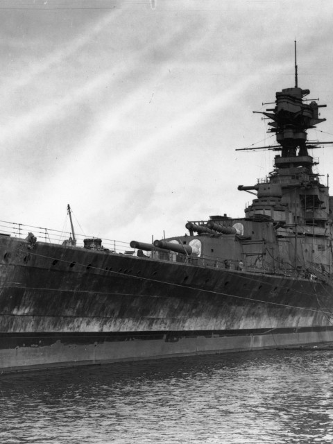 The battlecruiser HMS Hood – built at John Brown, launched 1918.