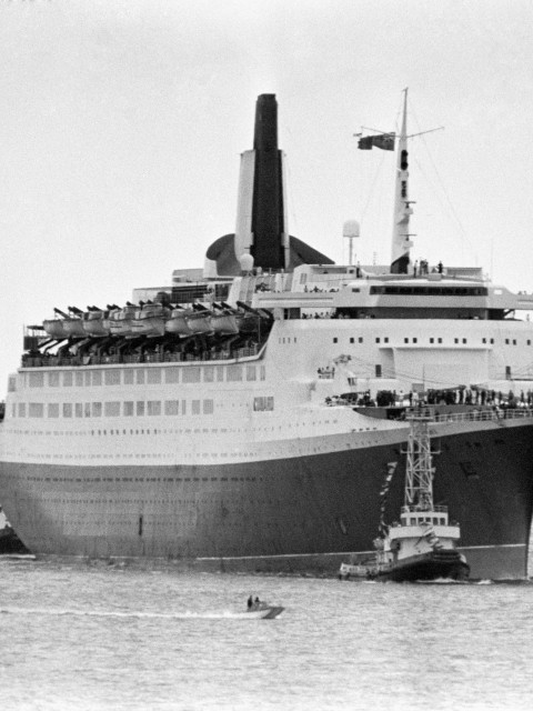 The luxury QE2 – built at John Brown, launched 1967 (PA)