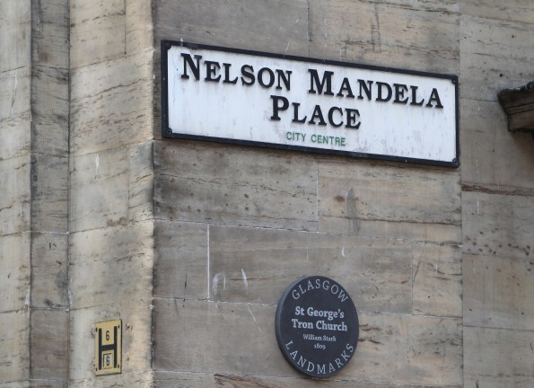 Glasgow's St George's Place was renamed as a tribute to Mandela (Andrew Cawley)