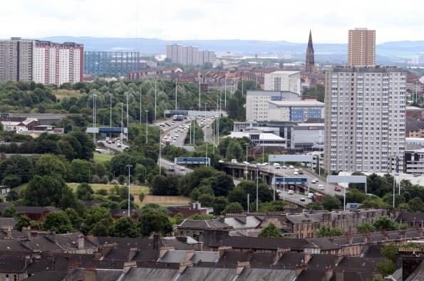 M8 Motorway leaving Glasgow