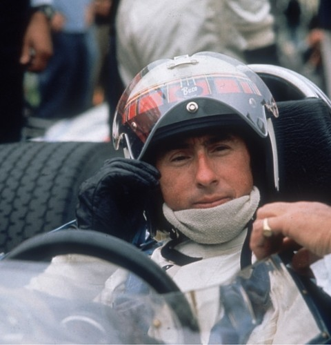 Scottish racing driver Jackie Stewart in his car at Brands Hatch, late 1960s - Getty Images