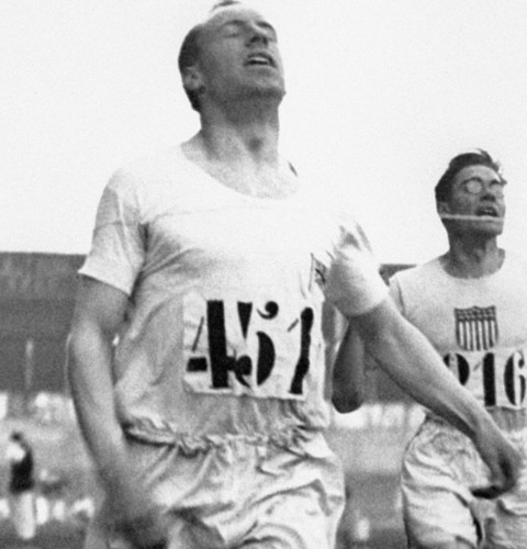 Eric Liddell winning the 400m flat race at the Olympic Games in Paris, 1924 (PA Archive)
