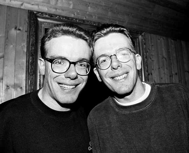 The Proclaimers pose for a portrait on the Isle Of Skye , United Kingdom, 1994. (Photo by Martyn Goodacre/Getty Images)