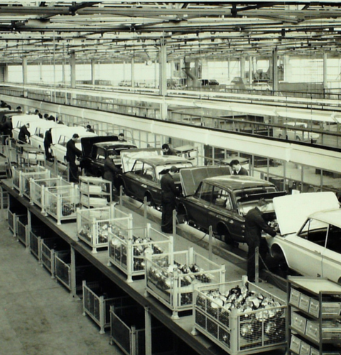 Hillman Production line, Linwood